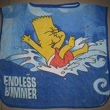 Детское банное, пляжное полотенце - пончо Симпсоны