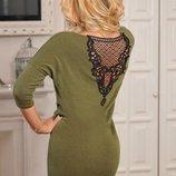 Платье ангора узорная спинка