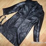 шкіряна куртка плащ S