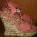 Стильні рожеві босоніжки текстиль р40 Call it spring