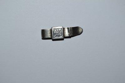 зажим для платка галстука серебро 875 проба голова винтаж отличное состояние вес 6,60 грамм