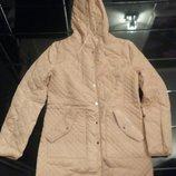 Стеганая куртка женская синтепон 100 р. 46 цвет беж