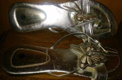 стильні срібні вєтнамки метелики р39 Claudia