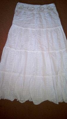 юбка длинная белая