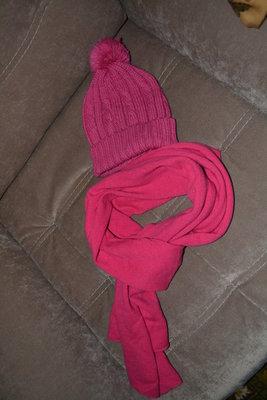 Шапка в подарок Трикотажный шарф