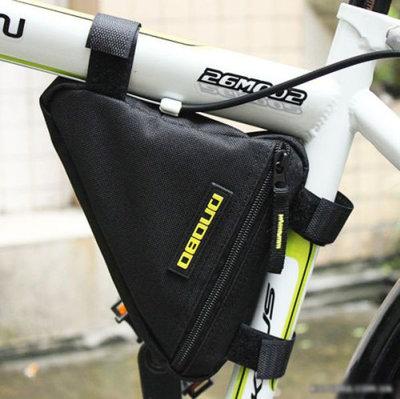 Черная велосипедная сумка на раму