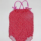 Красный купальник с сердцами, сердечками,86,92,18-24 мес., 1,5-2 года Состояние отличное