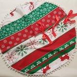 Юбка под новогоднюю елку,подкладка,подстилка,покрывало,скатерть под елку,новогодняя скатерть