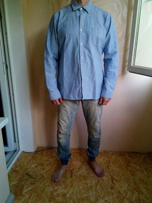 Мужская рубашка большого размера.