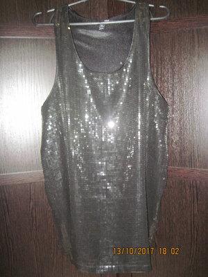 Нарядное платье туника h&m пайетки eur m