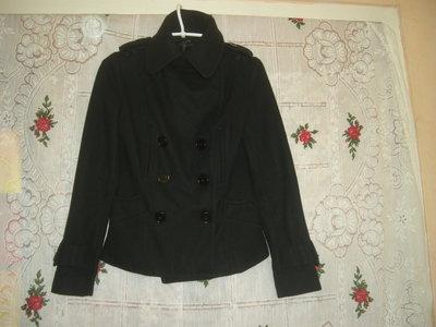 Супер п пальтишко topshop р.6 сочного черного цвета.