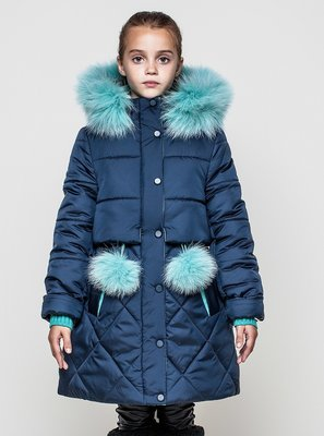 Зимнее пальто на тинсулейте для девочки Алсу-Супер модель Размеры 128-158