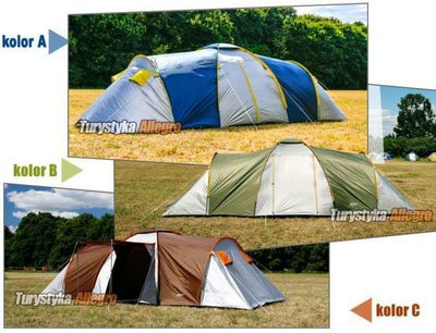 Палатка туристическая 6 чел. 3 спальных мешка. Польша.
