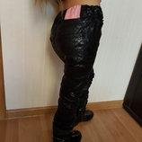 Брендовые штаники джинсы Kimbaloo под кожу с напылением для полных девочек