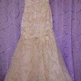 Платье нарядное свадебное выпускное вечернее.