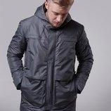 Парки куртки мужские демисезонные A1 GRAY