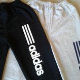 Стильные спортивные штаны АДИДАС на флисе ,мальчик 4-8 лет ,хлопок,Турция ,отличное качество .