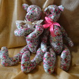 Мишки разные пары интерьерные текстильные