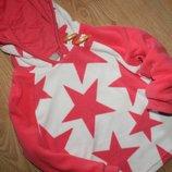 Крутанский теплый флисовый свитшот в звезды Next на 12-18 мес.