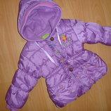 зимова куртка на флісі 1-2,6р., колір фуксії, переливається