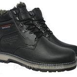 Кожаные мужские зимние ботинки ClubshoesSportwearBlack 97