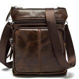 Мужская сумка барсетка Практик из натуральной кожи
