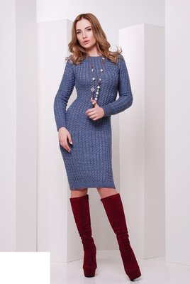 02 Невероятно теплое вязанное платье.