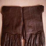Перчатки кожаные демисезонные женские p.6,5