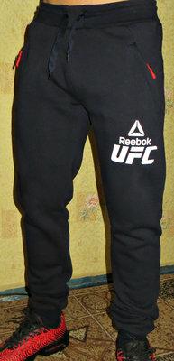 Спортивные штаны теплые Reebok UFC на манжете синие 8bc3828067a37