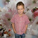 рубашка George на мальчика 7-8 лет летняя сост. новой