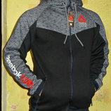 Толстовка Reebok UFC с капюшоном на молнии комбинированная .