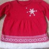 Платье новогоднее вязаное