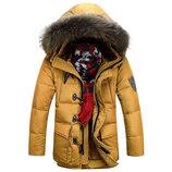 Зимняя тёплая удлинённая Мужская куртка Calvin AL7827