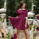 Женское стильное короткое платье 250 Джинс Клёш Воротничок .