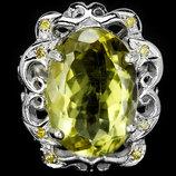 Кольцо Серебро 925 Натуральный лимонный кварц