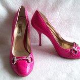 Туфли Кожа змеи, стелька 24 см.