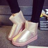 угги женские Хит дутики зимние теплые изабель сапоги ботинки термо сникерс танкетке