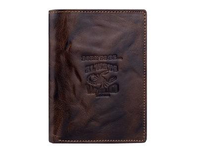 Мужской кошелек Always Wild из натуральной кожи потертый 314