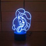 Ночник Крош, светильник, LED лампа, смешарики, игрушка, подарок ребенку, в детскую, интерьер, декор
