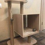 Дизайнерский домик, когтеточка для кота, кошки