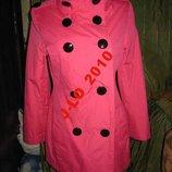 пальто розовое хс-с