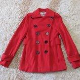 Пальто демисезонное красное Яркая осень