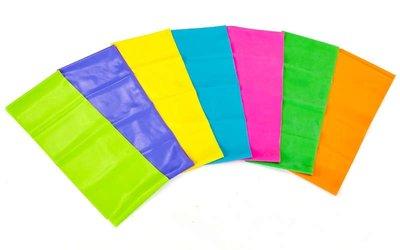 Лента эластичная для фитнеса и йоги 001-1,5 7 цветов, длина 1,5м