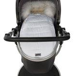Зимний конверт-кокон на овчине Доречі Baby XS, белый