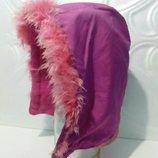Капюшон на флисовой подкладка для куртки, с легкой, воздушной опушкой, цвет фуксии