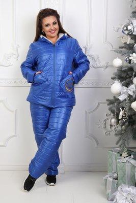cf751452fb014 Зимний лыжный костюм на овчине и синтепоне с капюшоном 50-52, 54-56  полномерные: 1190 грн - женская теплая верхняя одежда больших размеров в  Днепропетровске ...