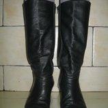 Сапоги женские кожаные демисезонные 38 р-ра