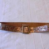 Жен.кожаный ремень р.76-91 см