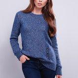 02 Стильный женский вязаный свитер
