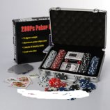 Настольная игра покер M 2777, 200 фиш без номинала